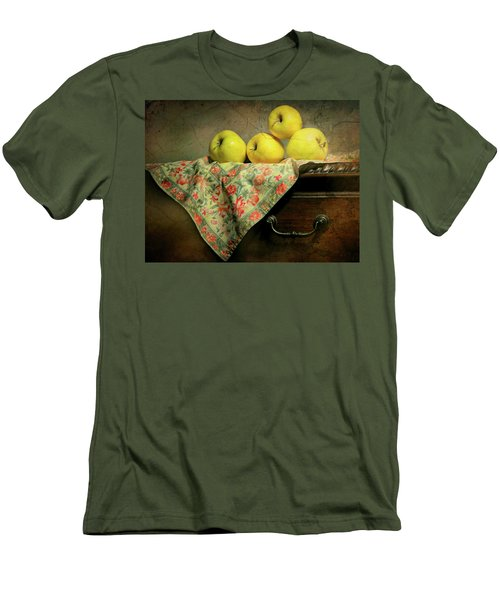 Men's T-Shirt (Slim Fit) featuring the photograph Apple Cloth by Diana Angstadt
