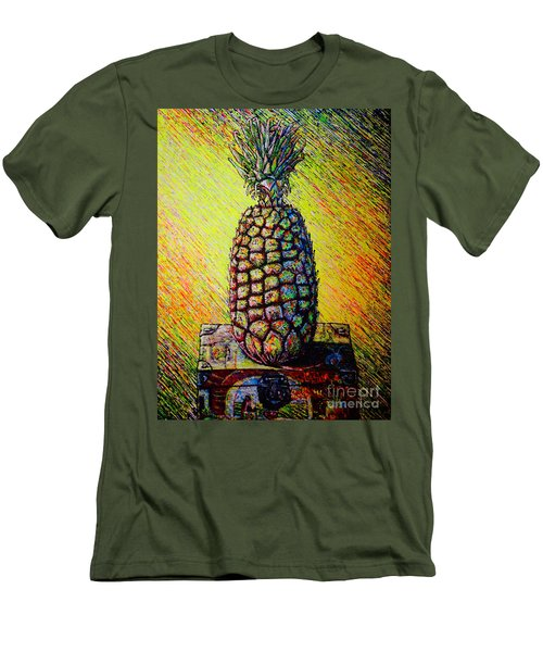 Men's T-Shirt (Slim Fit) featuring the painting Apple ..of The Pine by Viktor Lazarev