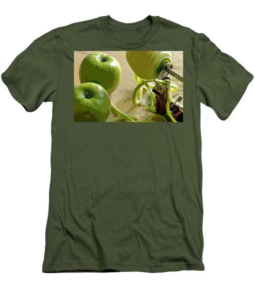 Apples Getting Peeled Men's T-Shirt (Slim Fit) by Debra Baldwin
