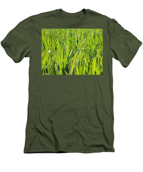 April Dewdrop Fairylights Men's T-Shirt (Athletic Fit)