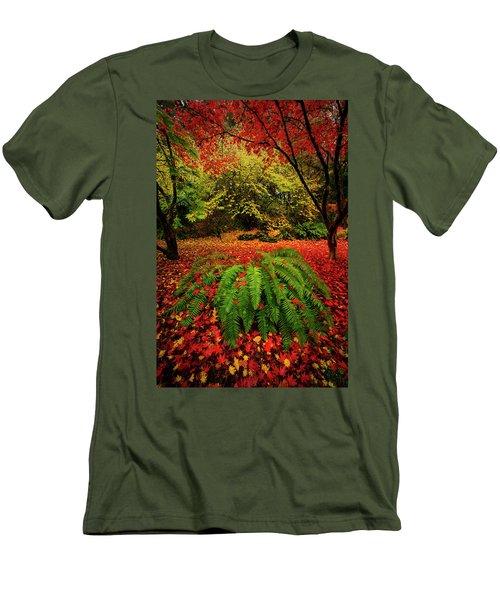 Arboretum Primary Colors Men's T-Shirt (Athletic Fit)