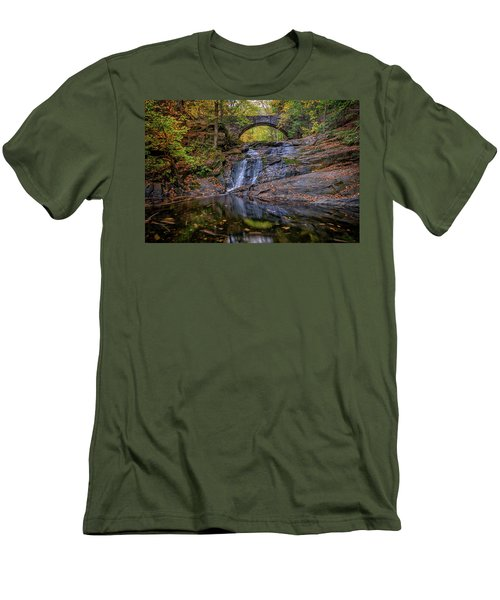 Men's T-Shirt (Athletic Fit) featuring the photograph Arch Bridge In Autumn by Rick Berk