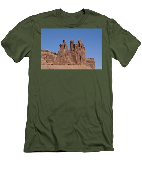 Men's T-Shirt (Slim Fit) featuring the photograph Arches National Park by Cynthia Powell
