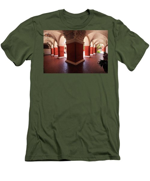 Archway Paintings At Santa Catalina Monastery Men's T-Shirt (Slim Fit) by Aidan Moran