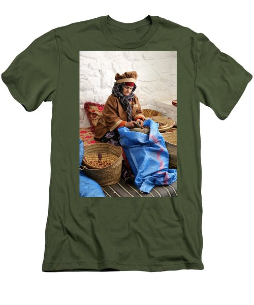 Men's T-Shirt (Slim Fit) featuring the photograph Argan Oil 3 by Andrew Fare
