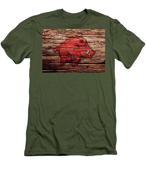 Arkansas Razorbacks 1a Men's T-Shirt (Slim Fit) by Brian Reaves