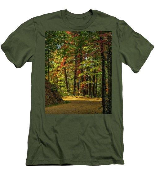 Around The Curve Men's T-Shirt (Slim Fit) by Ulrich Burkhalter