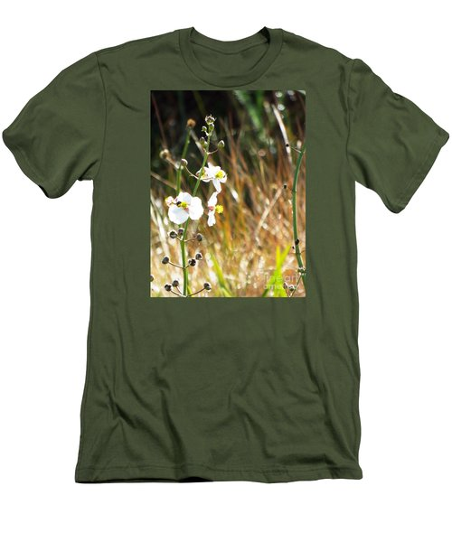 Arrowhead Blooms Men's T-Shirt (Slim Fit) by Audrey Van Tassell