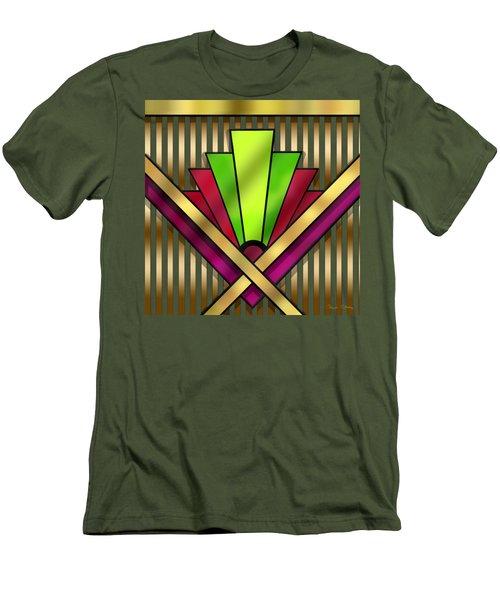 Art Deco 13 Transparent Men's T-Shirt (Slim Fit) by Chuck Staley