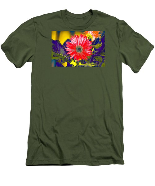 Men's T-Shirt (Slim Fit) featuring the photograph Artistic Bloom - Pla227 by G L Sarti