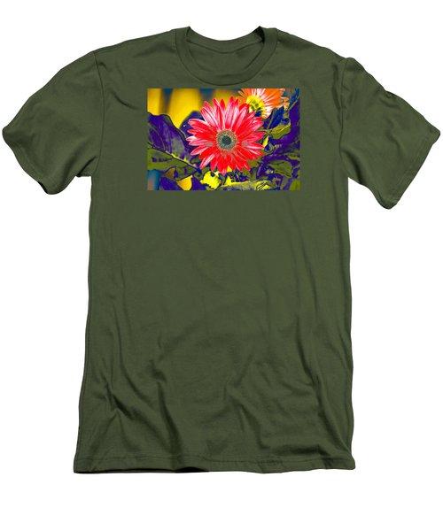 Artistic Bloom - Pla227 Men's T-Shirt (Slim Fit) by G L Sarti