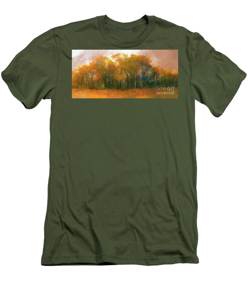 Men's T-Shirt (Slim Fit) featuring the photograph Artistic Fall Colors In The Blue Ridge Ap by Dan Carmichael