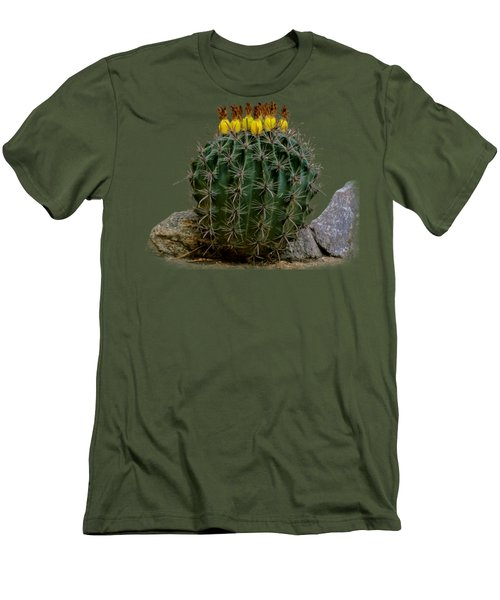 Barrel Against Wall No50 Men's T-Shirt (Slim Fit) by Mark Myhaver