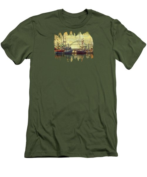 The Fishing Fleet In Yaquina Bay Men's T-Shirt (Slim Fit) by Thom Zehrfeld
