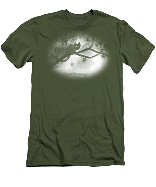 Men's T-Shirt (Athletic Fit) featuring the painting Chat Dans L'arbre by Marc Philippe Joly