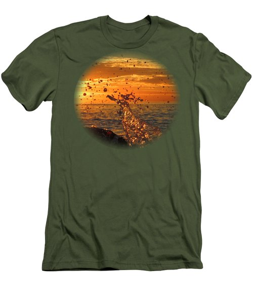 Ocean Splash Men's T-Shirt (Athletic Fit)