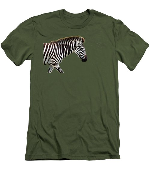 Men's T-Shirt (Slim Fit) featuring the photograph Zebra by Aidan Moran