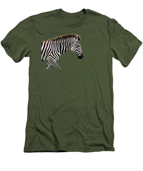 Zebra Men's T-Shirt (Slim Fit) by Aidan Moran