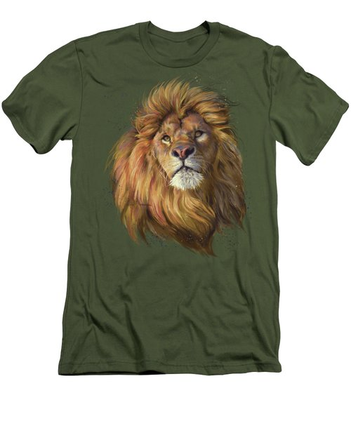 African Lion Men's T-Shirt (Athletic Fit)
