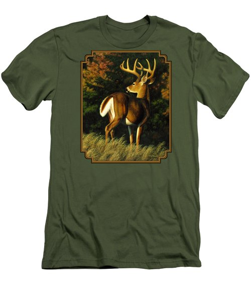 Whitetail Buck - Indecision Men's T-Shirt (Athletic Fit)