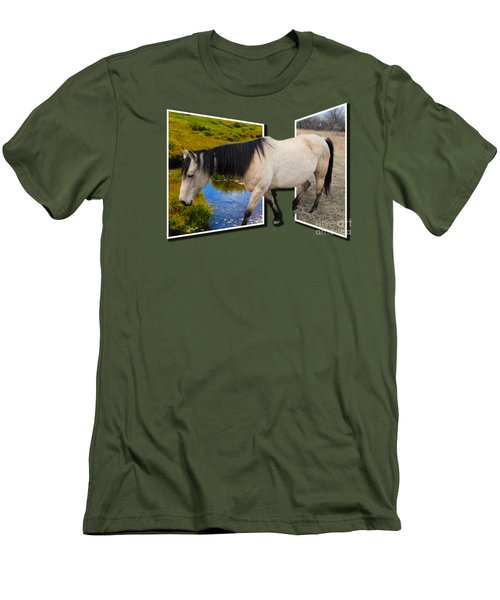 The Grass Is Always Greener On The Other Side Men's T-Shirt (Slim Fit) by Shane Bechler