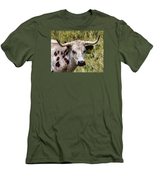 Men's T-Shirt (Slim Fit) featuring the photograph Call Me Spot by Bill Kesler