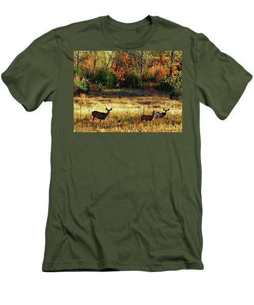 Deer Autumn Men's T-Shirt (Athletic Fit)