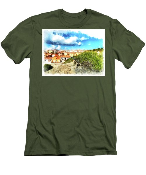 Arzachena Landscape With Clouds Men's T-Shirt (Athletic Fit)