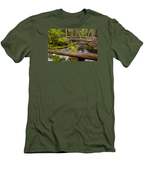 As The Creek Flows Men's T-Shirt (Slim Fit) by Greg Nyquist