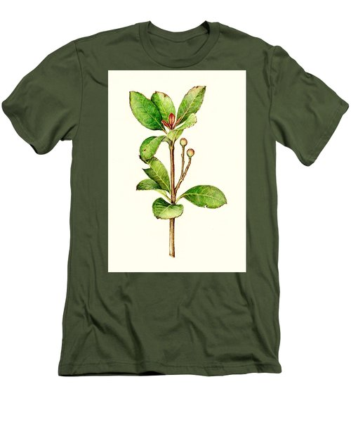 Men's T-Shirt (Slim Fit) featuring the painting As The Twig Is Bent The Tree Inclines. by Heidi Kriel
