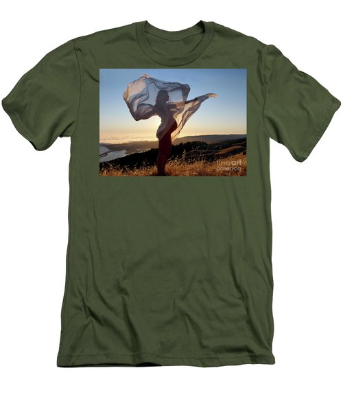 As The Wind Carries The Flower Of A New Life Men's T-Shirt (Athletic Fit)