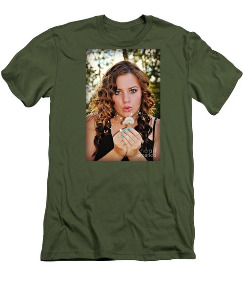 Men's T-Shirt (Slim Fit) featuring the photograph Ashley by Mindy Bench