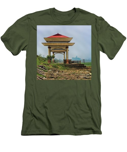 Asian Architecture I Men's T-Shirt (Slim Fit) by Chuck Kuhn