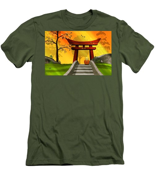 Asian Art Chinese Spring Men's T-Shirt (Athletic Fit)