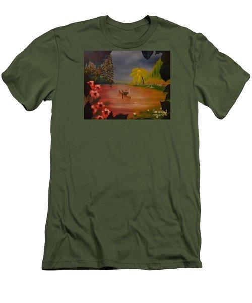 Asian Lillies Men's T-Shirt (Athletic Fit)
