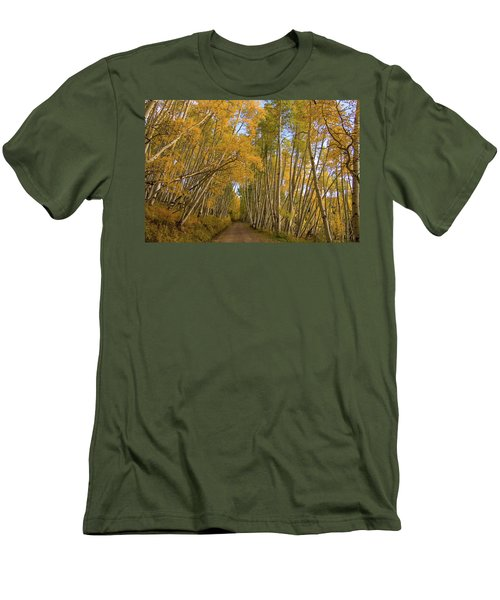 Men's T-Shirt (Slim Fit) featuring the photograph Aspen Alley by Steve Stuller