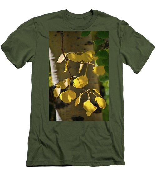Aspen Closeup Men's T-Shirt (Slim Fit) by Dana Sohr