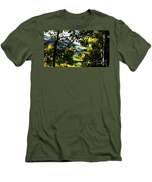 Aspen Effect Men's T-Shirt (Slim Fit) by Deborah Nakano