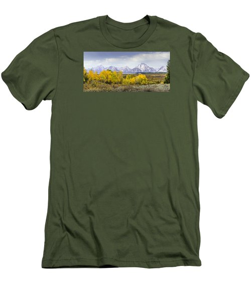 Aspen Gold In The Tetons Men's T-Shirt (Athletic Fit)