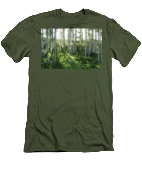 Men's T-Shirt (Slim Fit) featuring the photograph Aspen Morning 2 by Marie Leslie
