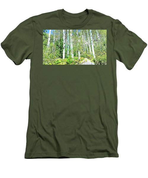 Men's T-Shirt (Slim Fit) featuring the photograph Aspen Splender Steamboat Springs by Joseph Hendrix