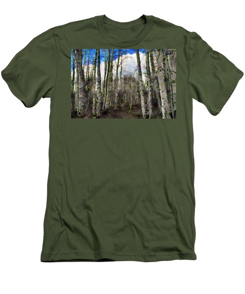 Aspen Standing Men's T-Shirt (Slim Fit) by Jeff Kolker
