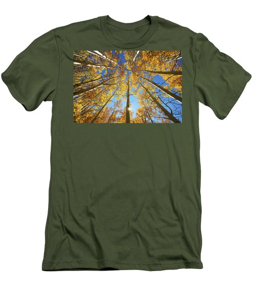 Aspen Tree Canopy 2 Men's T-Shirt (Slim Fit) by Ron Dahlquist - Printscapes