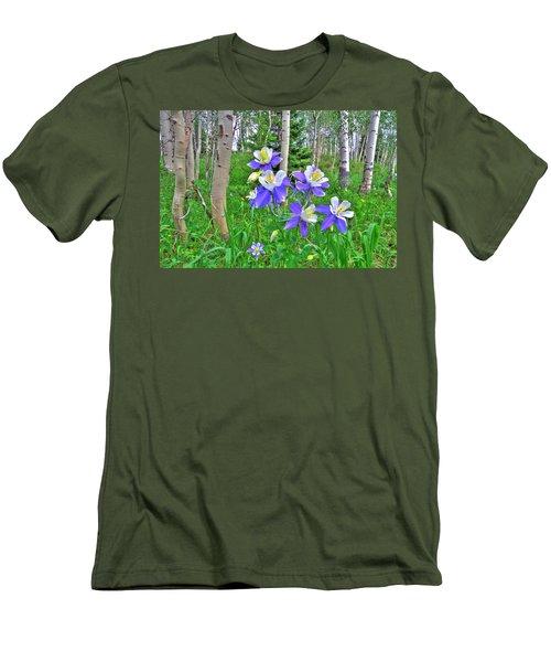 Aspens And Columbines Men's T-Shirt (Slim Fit) by Scott Mahon