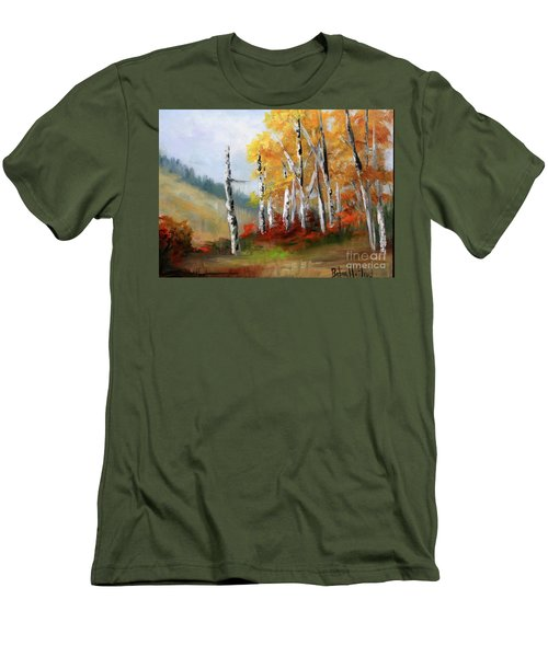 Aspens En Plein Air Men's T-Shirt (Slim Fit)