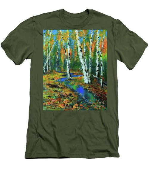 Aspens Men's T-Shirt (Slim Fit) by Jeanette French