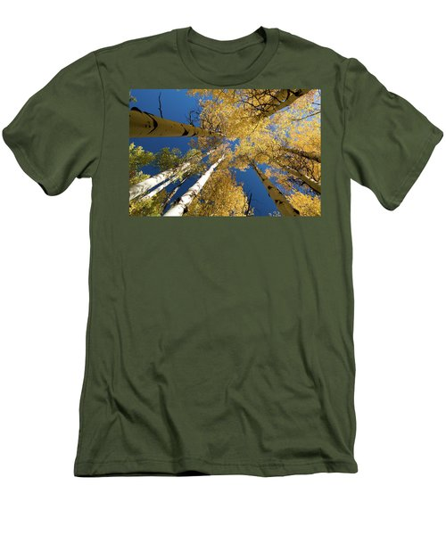 Men's T-Shirt (Slim Fit) featuring the photograph Aspens Up by Steve Stuller