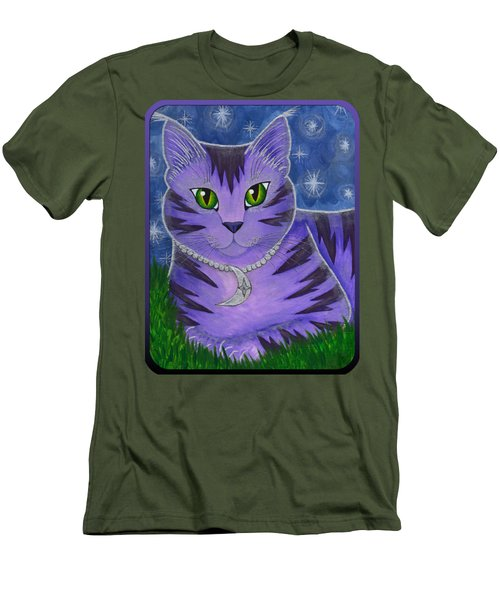 Astra Celestial Moon Cat Men's T-Shirt (Slim Fit) by Carrie Hawks