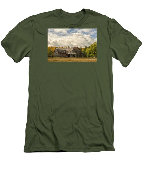 At The Edge Of The Medow Men's T-Shirt (Slim Fit) by JRP Photography
