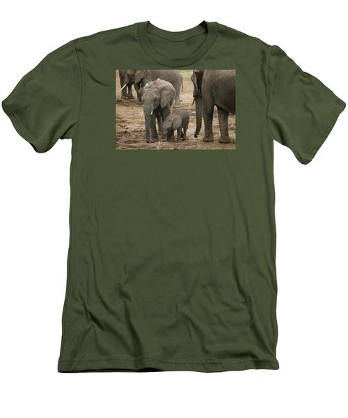 Men's T-Shirt (Slim Fit) featuring the photograph At The Salt Lick 2 by Gary Hall